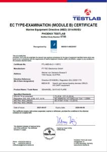 Modul B SEAANGEL SA15 AIS FLARE Zertifikat